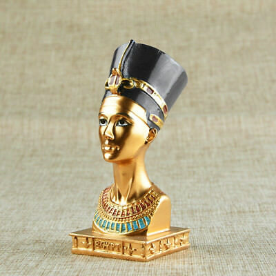4.5'' Ancient Resin Egyptian Pharaoh Figurine Statue Sculpture Home Decoration