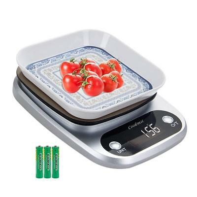 Cookmii Electric Kitchen Food Scales 10kg(22lbs) Stainless Steel Kitchen Scales