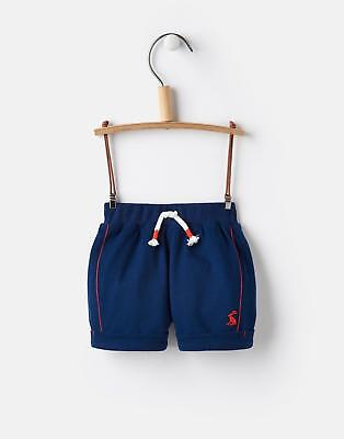 Joules Digby Baby Boys Jersey Shorts with Drawstring Waist in Navy