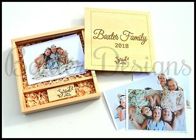 Personalised USB and Photo Box with engraved logo and Name Business