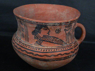 Ancient Large Size Teracotta Painted Jug Roman 100 No Reserve BC #PT675