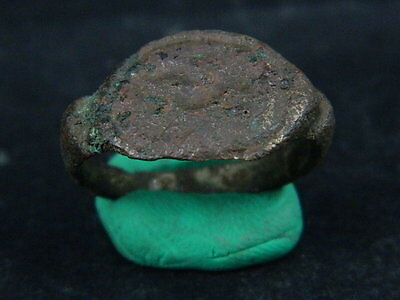 Ancient Bronze Seal Ring Bactrian 300 BC No Reserve  #BR1127