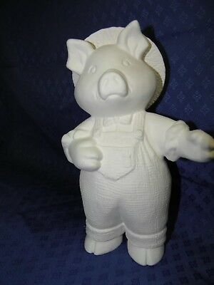 Ceramic Bisque Ready to Paint Jack the  Pig