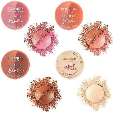 BOURJOIS DUO BLUSH SCULPT BLUSHES or LE PETIT STROBER HIGHLIGHTER- CHOOSE SHADE