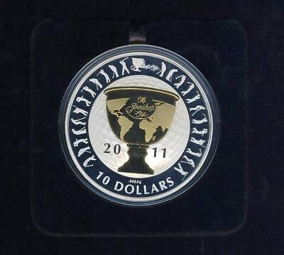 2011 Australian Presidents Cup $10 Gold Plated Silver Proof Coin - Mintage 1500
