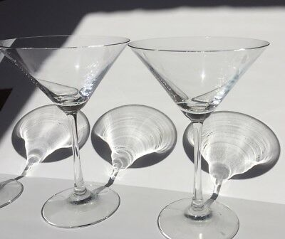 Lead Crystal Martini Glasses- 4 no off