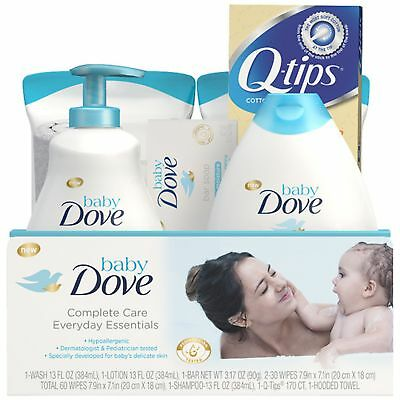 Baby Dove Complete Care Gift Set Everyday Essentials, 7 Pc