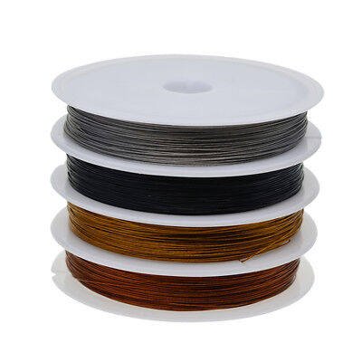 """4 x50m/Roll Plated Copper Wire Cord 0.38mm/0.01"""" for Jewelry Making Beading"""
