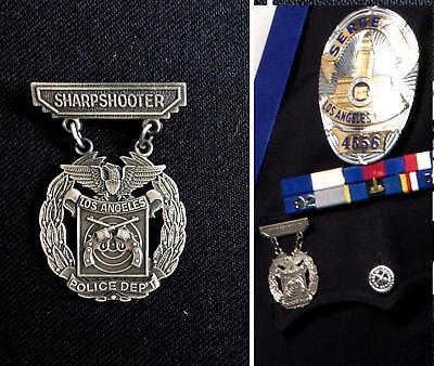 LAPD Los Angeles Police shooting medal sharpshooter badge