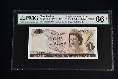 New Zealand 1971 pick#163d** Replacement star PMG66 EPQ 7106