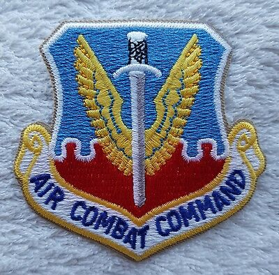US AIR FORCE PATCH Air Combat Command Full Colour Badge America United States