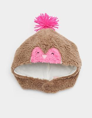 Joules Snuggle Novelty Fluffy Hat in Robin