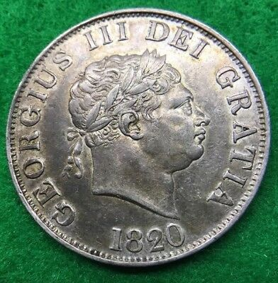 1820 Halfcrown - George Iii British Silver Coin - Very Collectable Grade
