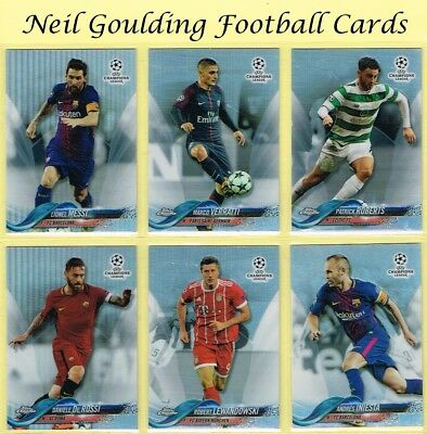 Topps CHAMPIONS LEAGUE CHROME 2017-2018 ☆ REFRACTOR PARALLEL ☆ Football Cards