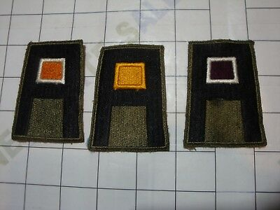 3x wwii WW2 uniform PATCH embroiderd US Army SIGNAL CORPS collection green-backs