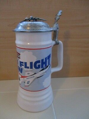 New Hanover First in Flight USAF Thunderbird Wright Brothers Ceramic Beer Stein