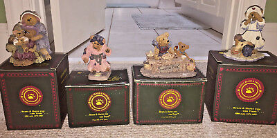 LOT OF 4 Collectable BOYDS BEARS **EXCELLENT CONDITION**