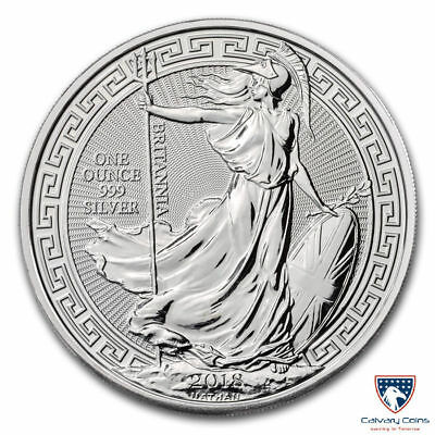 2018 1 oz British Silver Britannia Oriental Border (In Capsule)