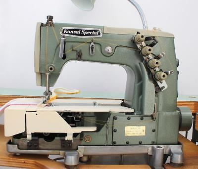 KANSAI SPECIAL DVK-1702-D Coverstitch Fagoting Edging Industrial Sewing  Machine 4bcd656aab2