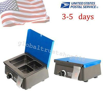 Analog Wax Heater Pot 3-Well Digital Waxer Melting Dipping Temperature Lab Use