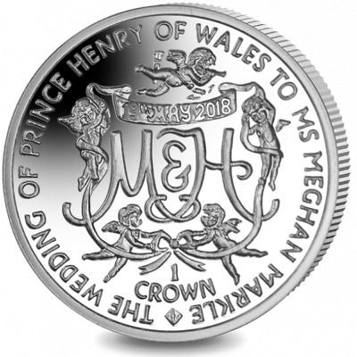 2018 Prince Harry Meghan Markle Royal Wedding Proof Silver Coin only 2000 made!