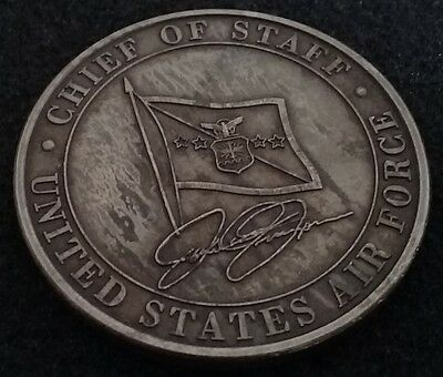 NEVER SEEN VINTAGE USAF Air Force Chief of Staff General Jumper Challenge Coin
