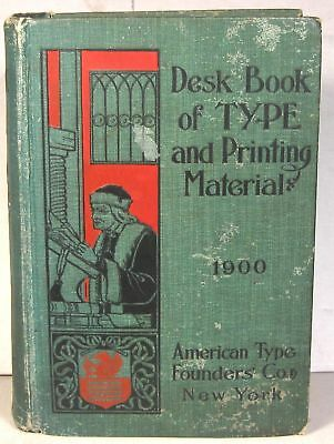 1900 American Type Founders book of specimens & printing machinery catalogue