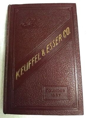 1936 Keuffel & Esser Co. Hard Cover Catalog Book-Drawing/surveying-38Th Edition
