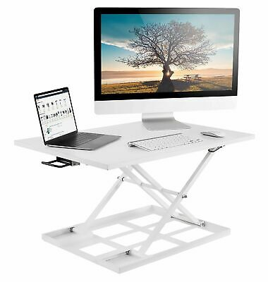 Mount It Sit Stand Converter Ergonomic Height Adjustable Tabletop