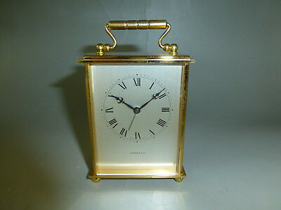 Vintage Tiffany & Co. Carriage Mechanical 8 day 15 jewel Movement Alarm Clock