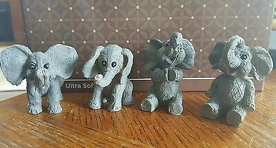 Lot of 4 Mini ELEPHANT Figurines