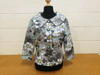 Vintage Ladies Summer Cotton Printed Jacket. Large. Beautiful. Handmade 1960s
