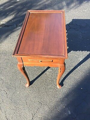 Ethan Allen Georgian Court Tea Table ***FREE SAME DAY FEDEX SHIPPING**
