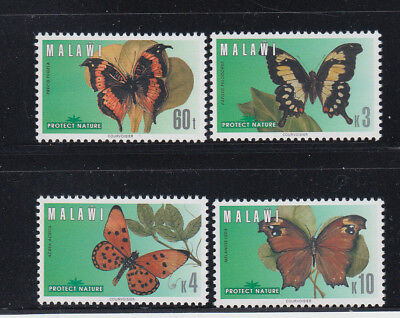 Malawi 1996 Butterflies Sc 651-654 Complete  Mint Never Hinged
