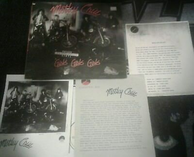 Motley Crue Promo lp, with promo photo, tour dates and bio Girls, Girls, Girls