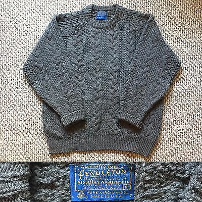 Vintage Vtg 1970s 70s Pendleton Country Traditionals Knit Sweater Gray Wool