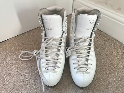 Risport RF3  Ladies White Leather Figure Skates Size 5 Boot Only