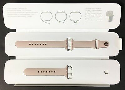 Genuine Apple Watch Sport Band 38mm Stainless Steel Pin, Pink Sand/ Rose Gold VG