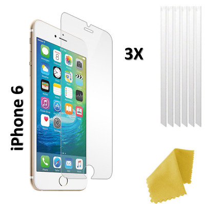 3 x Clear Plastic Screen Guard LCD Protector Film Layer - Apple iPhone 6
