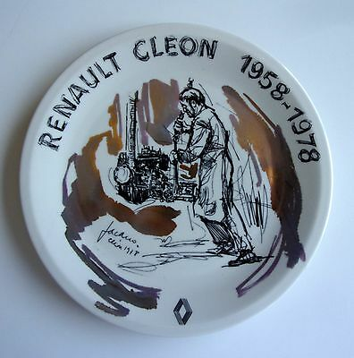 Renault Cleon Assiette Commemorative Jacano Jacques Hanot Bruxelles 1978 Tbe