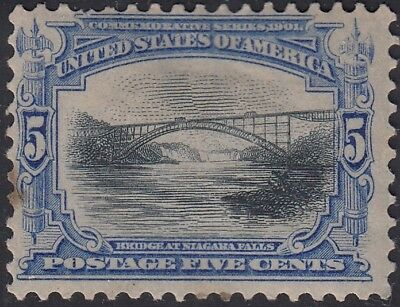 TDStamps: US Stamps Scott#297 5c Mint HR OG CV$75.00
