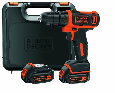 BLACK+DECKER Perceuse-visseuse sans fil + 2 batteries Chargeur 3h En Coffret