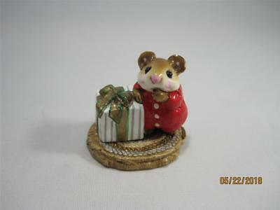 Wee Forest Folk Merry Chris-Mouse Retired 1985 - Cute Vintage Mouse! Not Perfect