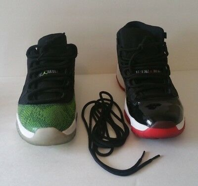 f5028284b5707e Jordan Air XI 11 12 Red Black White rope round laces bred space jams  concords