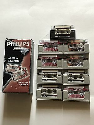 Philips 30-Minute Mini Cassette Tape - 10 Pack Plus 9 Tapes (19 TAPES TOTAL!)