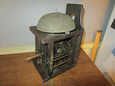 Antique wood cased Postman's Clock with large Bell / Postman Clock project