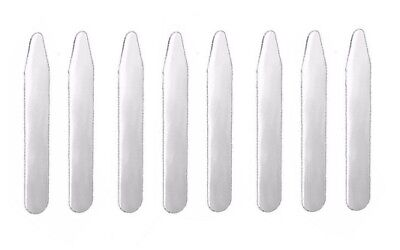 "8pcs (4 pairs) Metal Collar Stays 2.2"" 2.5"" 2.7"" 3"" Pick Your Size!"