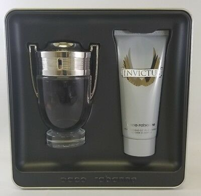 Paco Rabanne Invictus 3.4 Oz Eau de Toilette Spray 3.4 Shampoo Men's Gift Set
