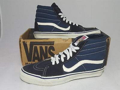 18439489bf Vintage Vans shoes SK8 HI NAVY made in USA Men s Size 10 NOS Old Skool 90s