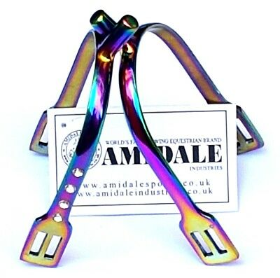 Amidale Rainbow Horse Riding Hammer Tooth Spur Equestrian S/s Crystal Bnwt